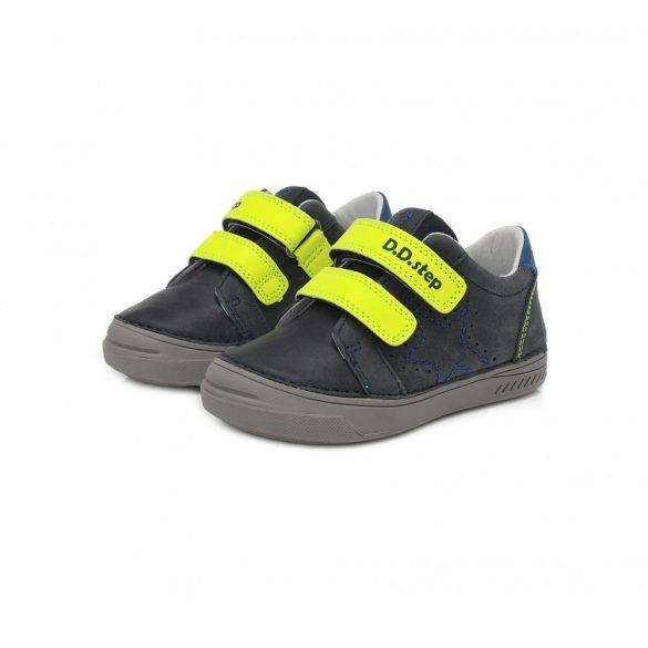D.D.step kék neon tépőzáras fiú cipő