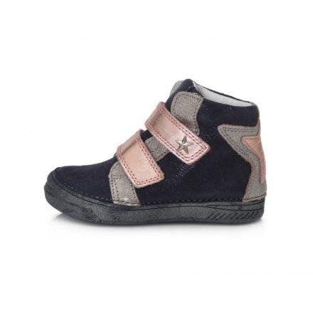D.D.step kék csillagos lány magasszárú cipő