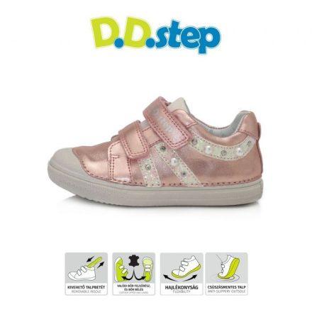D.D.step metallic pink lány cipő