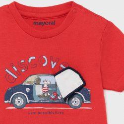 Mayoral kisfiú póló interaktív mintával