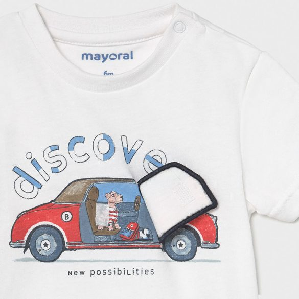 Mayoral interaktív mintás fiú póló