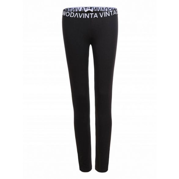 Fekete rugalmas lány leggings