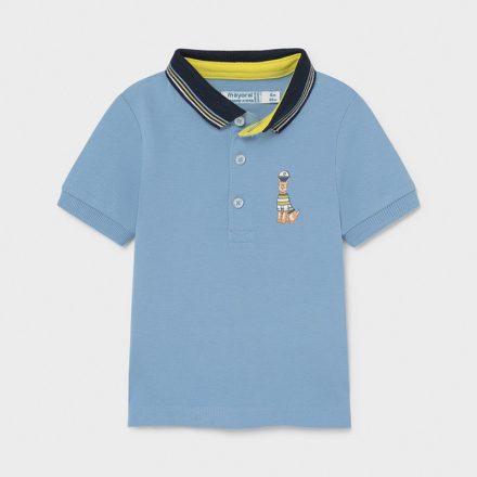 Mayoral kék színű galléros fiú póló