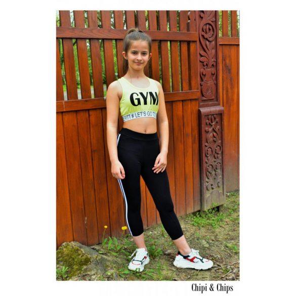 Chipi & Chips fekete leggings fitness nadrág
