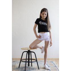 Chipi & Chips fehér rugalmas vászon rövid nadrág