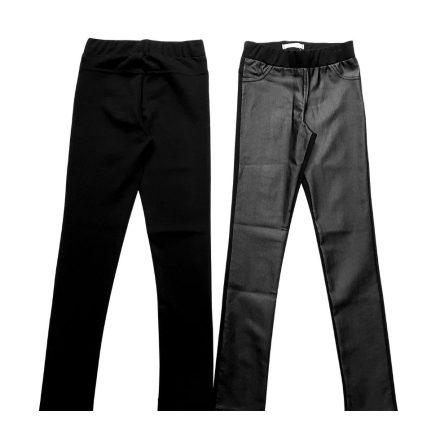Chipi & Chips fekete elől bőrhatású lány nadrág