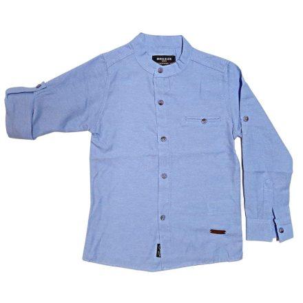 Breeze kék fiú felgombolható hosszú ujjú ing