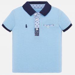 Mayoral fiú galléros piké kék póló