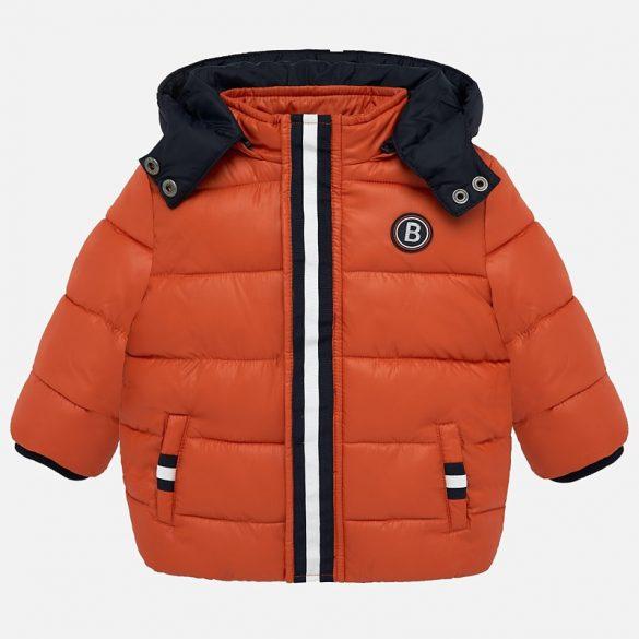 Mayoral téli kisfiú pufi narancsos színű kabát
