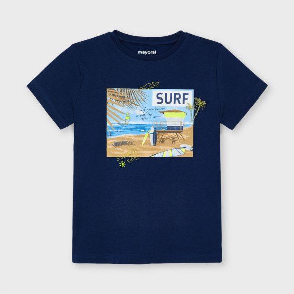 Mayoral bio pamut kék színű fiú póló