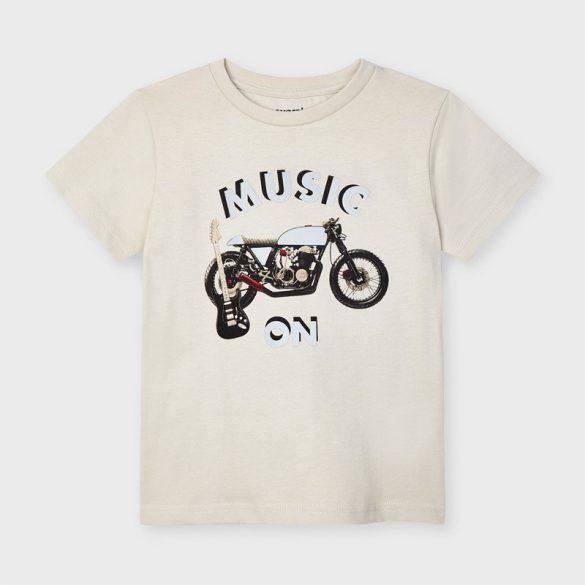 Mayoral fiú fényvisszaverős motor motívumos póló