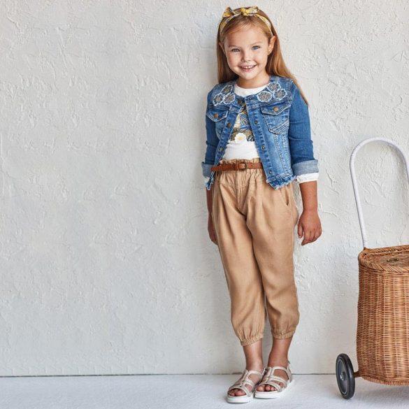 Mayoral karamell színű öves lány nadrág