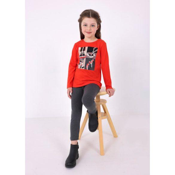 Mayoral fekete színű barátnő mintás póló 4014