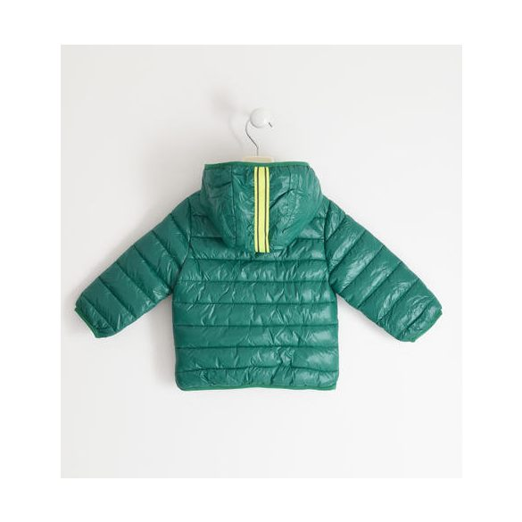 Ido átmeneti kapucnis zöld fiu kabát