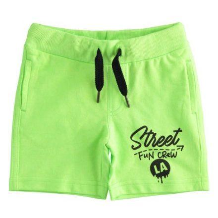 Ido neon zöld gumis derekú fiú rövidnadrág