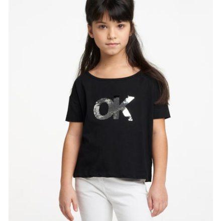 Ido fekete ok feliratos lány póló