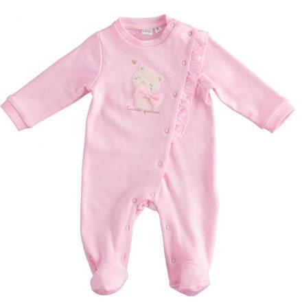 Ido rózsaszín kislány pamut tipegő