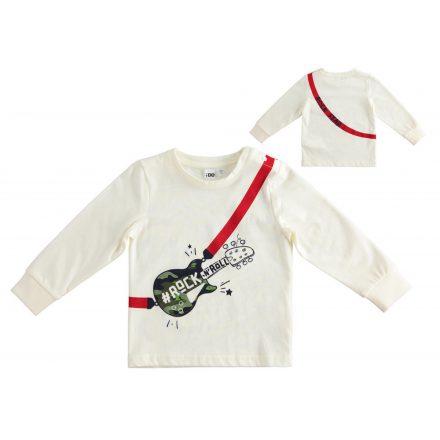 Ido pamut fiú hosszú ujjú póló gitár mintával