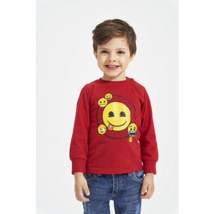 Ido smile mintás fiú hosszú ujjú póló