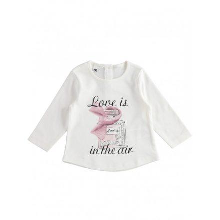 Ido parfüm mintás mintás pamut kislány póló