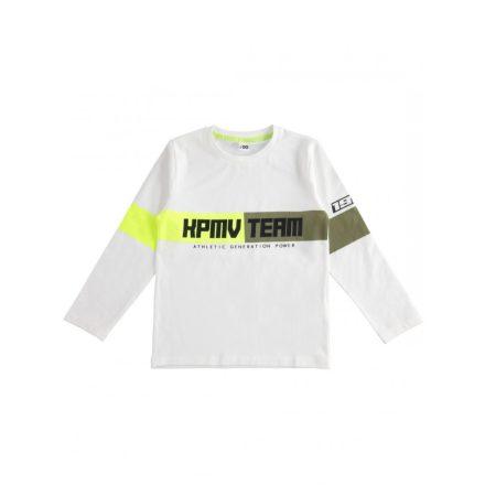 Ido fiú hosszú ujjú póló neon színű mintával