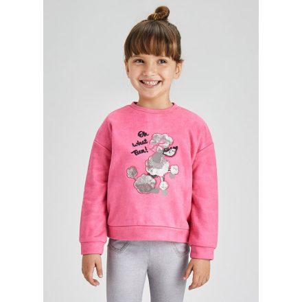 Mayoral fuchsia poodle mintás lány pulóver 4430