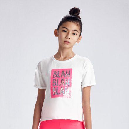 Mayoral interaktív simis mintás lány póló