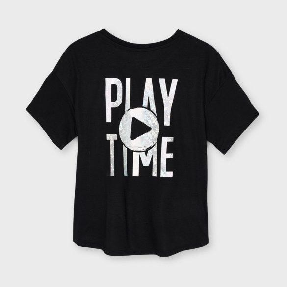 Mayoral fekete play sportos lány póló