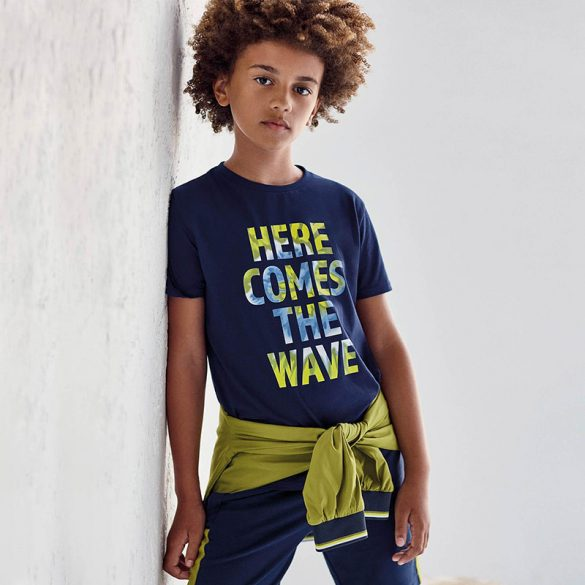 Mayoral betű mintás kék fiú póló