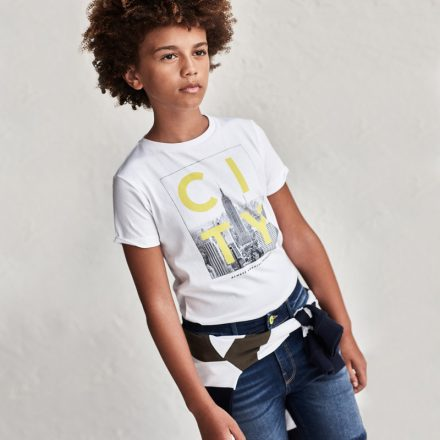 Mayoral fiú New York mintás rövid ujjú póló
