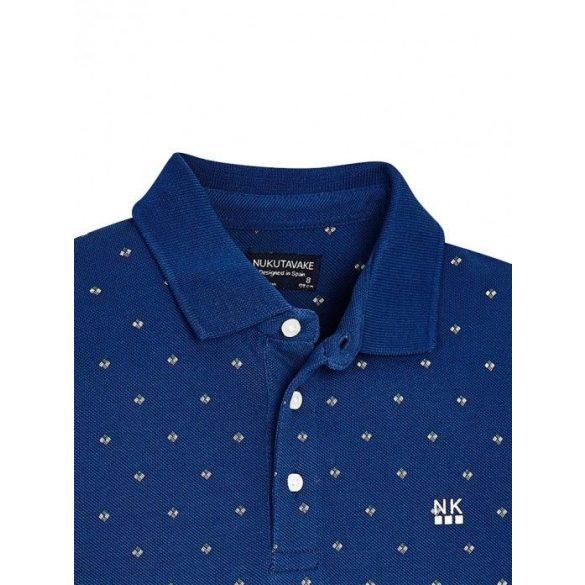 Mayoral fiú kék mintás galléros póló