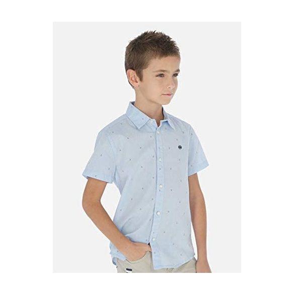 Mayoral kék fiú mintás ing
