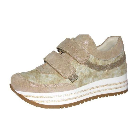 Szamos Kölyök arany színű platformos lány cipő