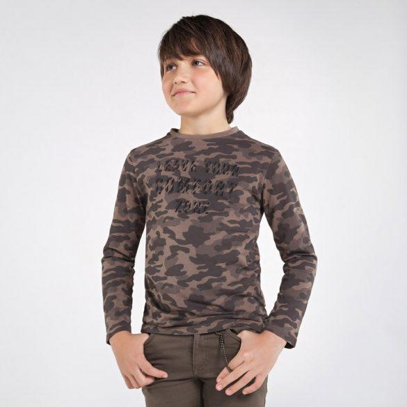 Mayoral terep mintás fiú hosszú ujjú póló