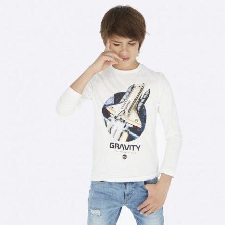 Mayoral űrhajó mintás Nasa pamut hosszú ujjú fiú gyerek póló.