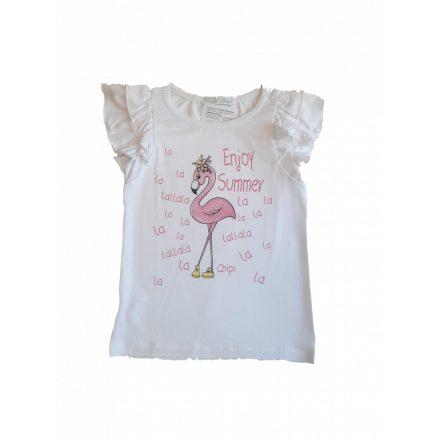 Chipi & Chips rövid ujjú flamingó póló