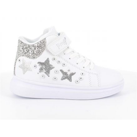 Primigi fehér magasszárú lány csillagos cipő