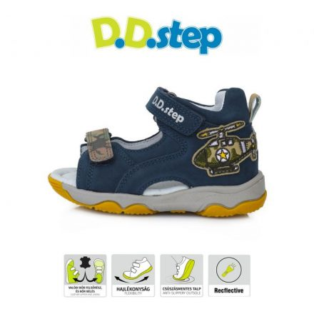 D.D.step fluoreszkáló terep mintás fiú szandál AC64-999A