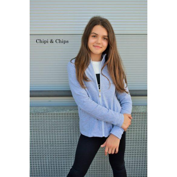 Chipi & Chips szürke oldalzsebes lány kardigán