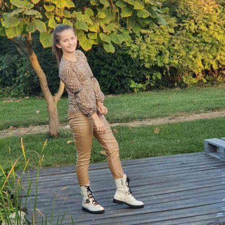 Chipi & Chips bőr hatású lány nadrág
