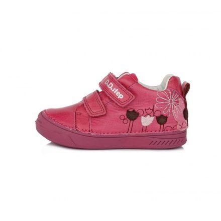 D.D.step virág mintás málna színű lány cipő S040-972AM