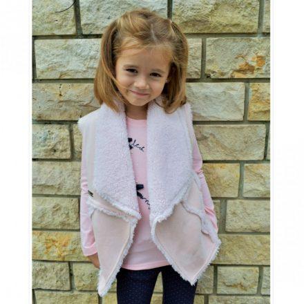 Chipi & Chips kislány irha hatású rózsaszín mellény
